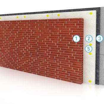 Утепление стен с облицовкой кирпичом